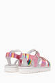 thumbnail of Criss-Cross Straps Rainbow Sandals         #2