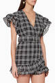 thumbnail of Captivate Checkered Wrap Dress   #0