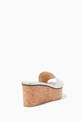 thumbnail of Deedee 80 Embossed Logo Nappa Leather Wedge Sandal   #2