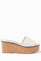 thumbnail of Deedee 80 Embossed Logo Nappa Leather Wedge Sandal   #0
