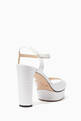 thumbnail of Peachy Leather Platform Sandals #2