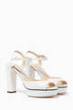 thumbnail of Peachy Leather Platform Sandals #4