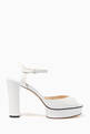 thumbnail of Peachy Leather Platform Sandals #0