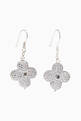 thumbnail of Floral Cubic Zirconia Dangle Earrings #0