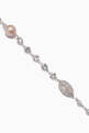 thumbnail of Cubic Zirconia, Pearl & Filigree Bead Crystal Necklace #3