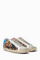 thumbnail of Superstar Leopard Print Leather Sneakers   #4