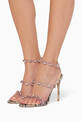 thumbnail of Rosalind Gem Snake-Print Leather Sandals   #1