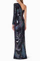 thumbnail of Tallon Sequin One Sleeve Gown   #2