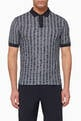 thumbnail of Horizontal Wave Jacquard Polo Shirt #0