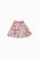 thumbnail of Striped-Waist Floral Skirt #0