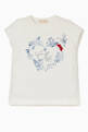 thumbnail of Chic Floral Wreath Sequin-Detail T-Shirt #0