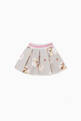 thumbnail of Striped-Waist Bambi-Print Pleated Skirt #2