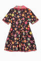 thumbnail of Floral Print Organza Trim Dress  #1