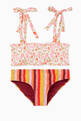 thumbnail of Goldie Shirred Two-Piece Swimsuit  #0