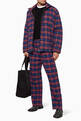 thumbnail of Checkered Cotton Flannel Pants   #4