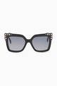 thumbnail of Square Studded Full Rim Sunglasses #0