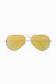 thumbnail of Aviator Flash Lens Sunglasses #0