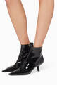 thumbnail of Slanted Heel Patent Leather Boots #1