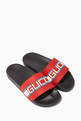 thumbnail of Logo Stripe Rubber Slide Sandals     #0