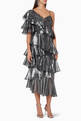 thumbnail of Ruffled Lurex Midi Dress #0