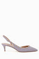 thumbnail of Rockstud Leather Slingback Pumps   #0