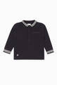 thumbnail of Long-Sleeved Knit Polo Shirt  #0