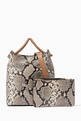 thumbnail of Small Vosges Snake-Print Tote Bag  #4