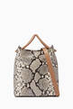 thumbnail of Small Vosges Snake-Print Tote Bag  #0