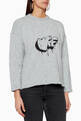 thumbnail of Logo Embroidered Metallic Sweater    #0