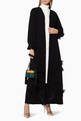 thumbnail of Embroidered Feather Flap Abaya  #1