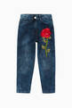 thumbnail of Embroidered Ric Rosa Denim Jeans    #0