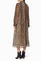 thumbnail of Pleated Leopard Print Georgette Dress   #2