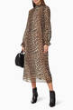 thumbnail of Pleated Leopard Print Georgette Dress   #1