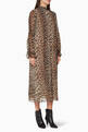 thumbnail of Pleated Leopard Print Georgette Dress   #0