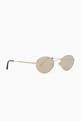 thumbnail of Round-Frame Gold Sunglasses #1