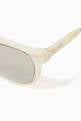 thumbnail of Rollright C25 Acetate Mirrored Sunglasses  #2