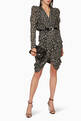 thumbnail of Issolya Printed Lurex Broche Draped Dress      #1
