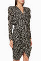 thumbnail of Issolya Printed Lurex Broche Draped Dress      #0