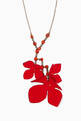 thumbnail of Flora Strass & Fabric Pendant Long Necklace    #0