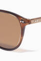thumbnail of Hampton 46 Acetate Round-Frame Sunglasses #3