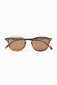 thumbnail of Hampton 46 Acetate Round-Frame Sunglasses #0