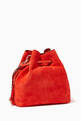 thumbnail of Callie Drawstring S Suede Bucket Bag      #2