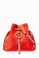 thumbnail of Callie Drawstring S Suede Bucket Bag      #0