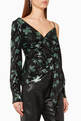 thumbnail of Leaf Sequinned Wrap Top        #0