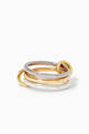 thumbnail of Fauna Gold Linked Rings      #2