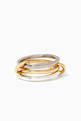thumbnail of Fauna Gold Linked Rings      #0