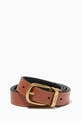 thumbnail of Harness Buckle Reversible Leather Belt #3