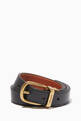 thumbnail of Harness Buckle Reversible Leather Belt #0