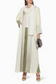 thumbnail of Panelled Linen Abaya    #4