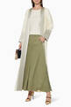 thumbnail of Panelled Linen Abaya    #1